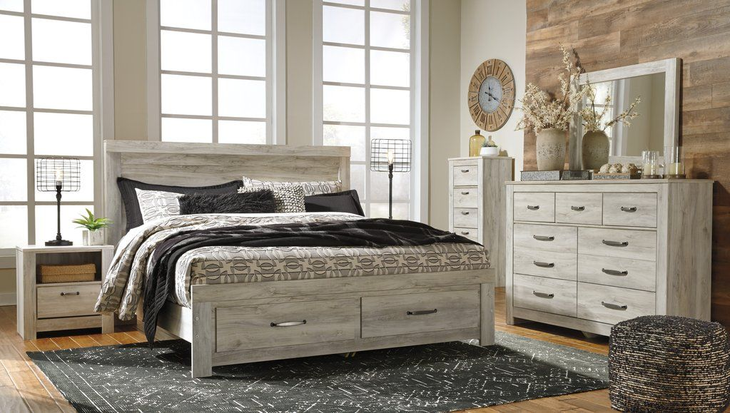 Bellaby Whitewash Bed Bedroom sets, White headboard, Bed
