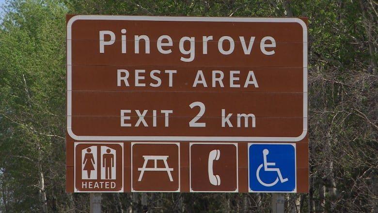 Image result for highway rest area sign montreal rest