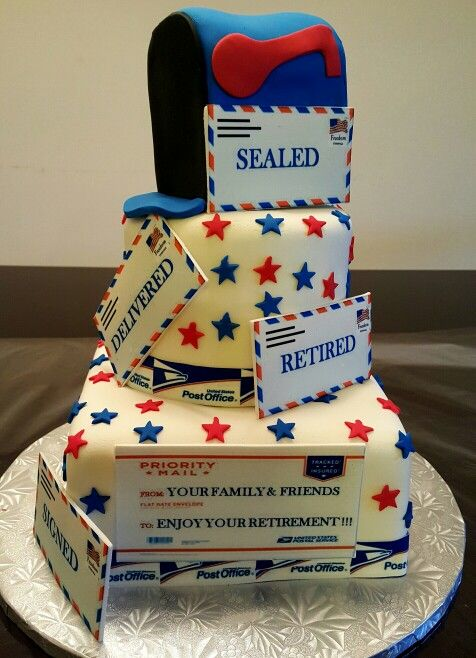 Postal Office Cake Cakes In 2019 Retirement Party Cakes