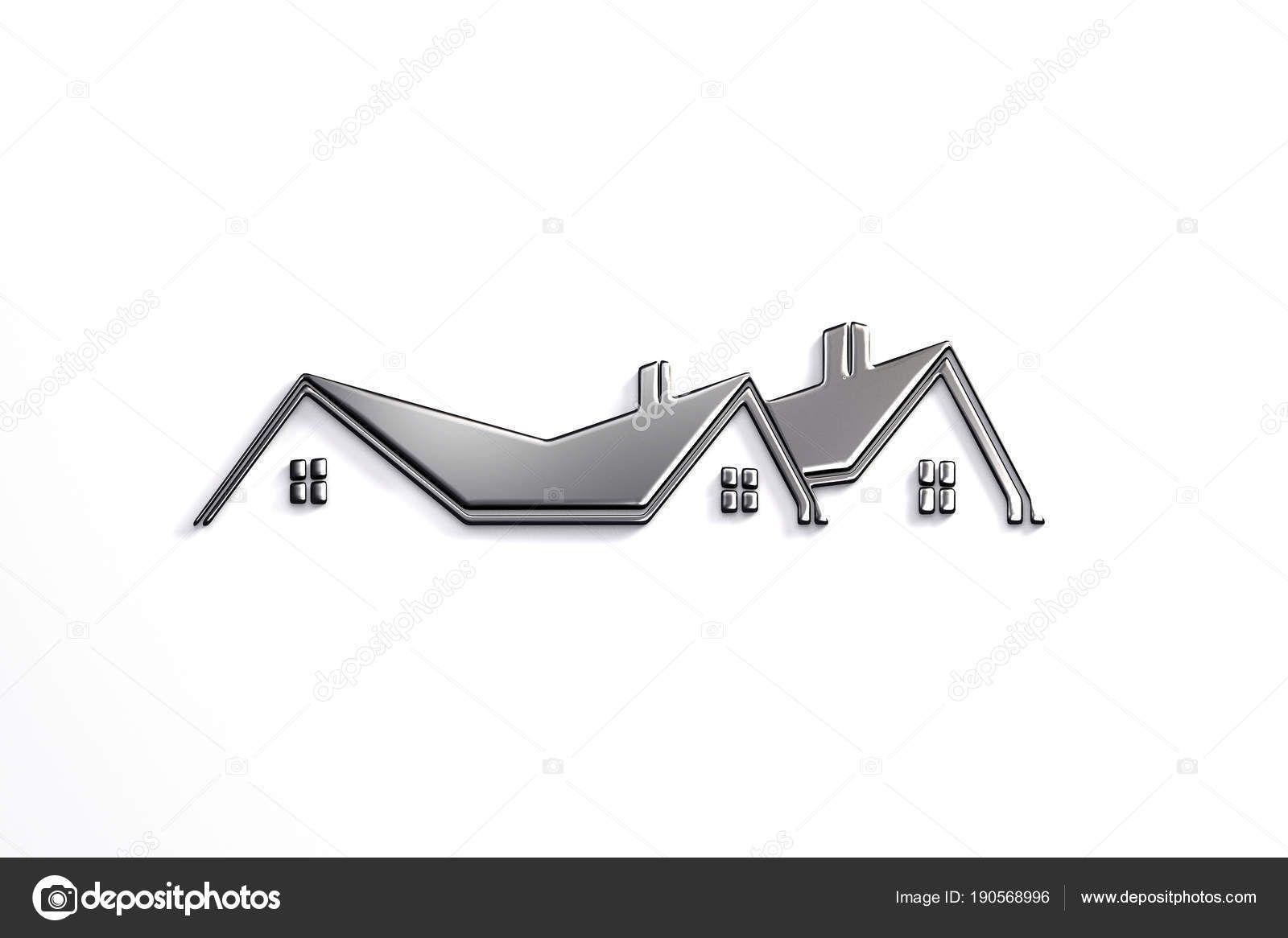 Real Estate Silver Logo Design 3d Rendering Illustration Estate House Real Home Architec Professional Logo Design House Logo Design Logo Design Creative