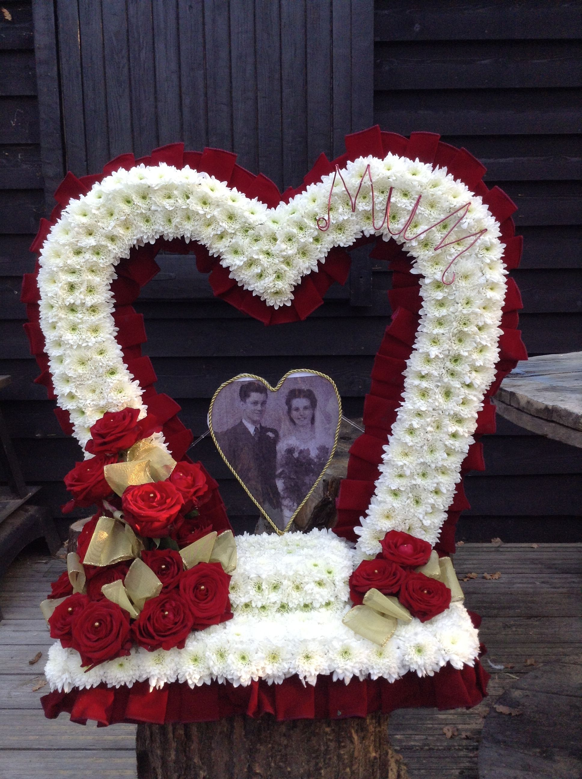 Funeral flowers heart funeral flower tribute gates of heaven heart funeral flowers heart funeral flower tribute gates of heaven heart funeral flower tribute izmirmasajfo Image collections