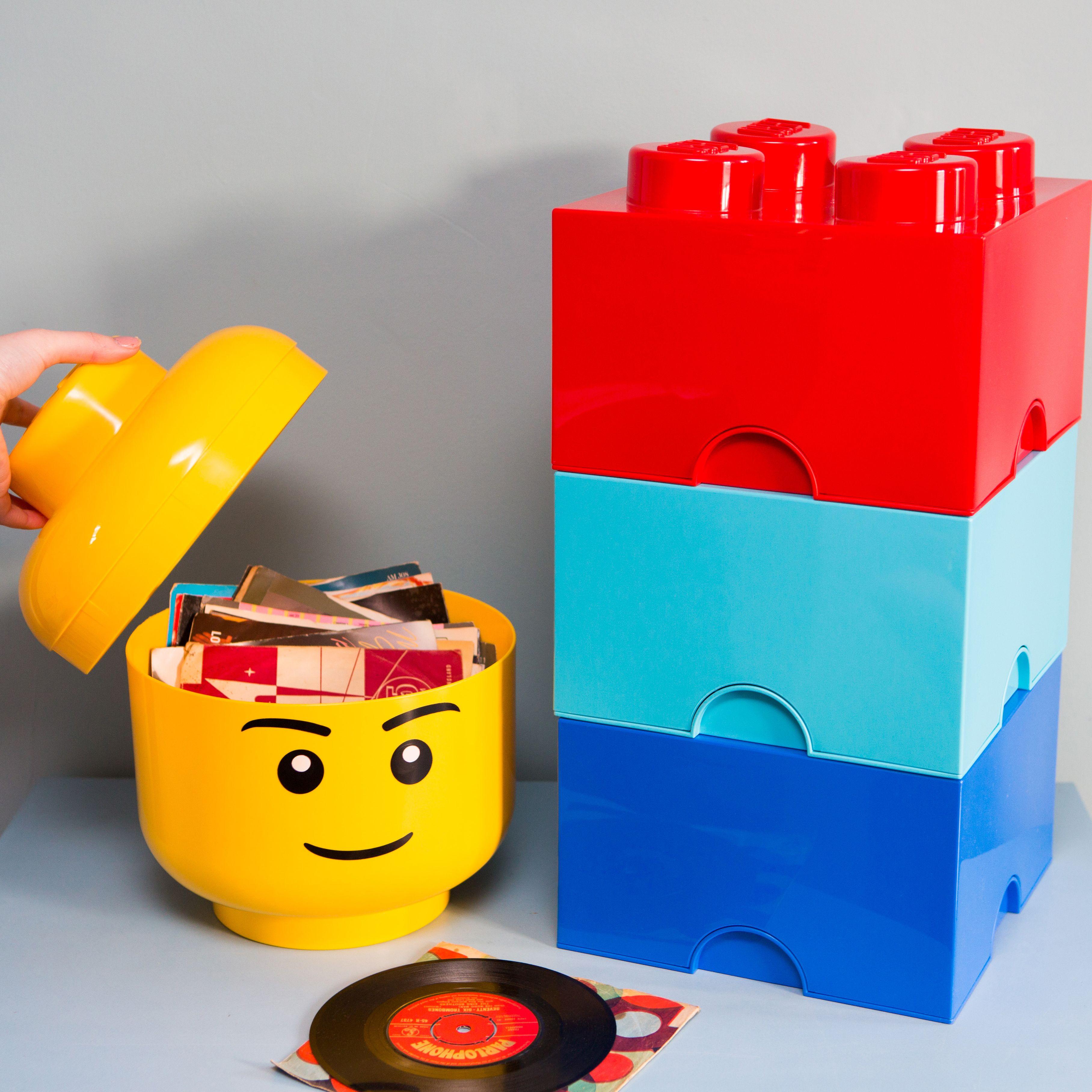 Lego Storage Bricks And Storage Head Ellieellie Legostorage