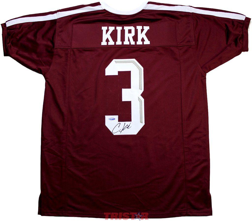 04f797dac Christian Kirk Autographed Texas A M Aggies Custom Jersey