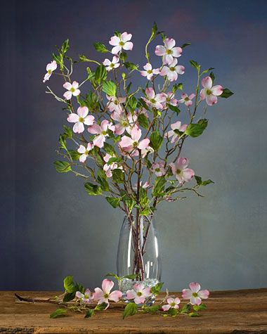 Dogwood silk flower stem silk flowers pinterest centerpieces dogwood silk flower stems for casual decorating at silkflower mightylinksfo