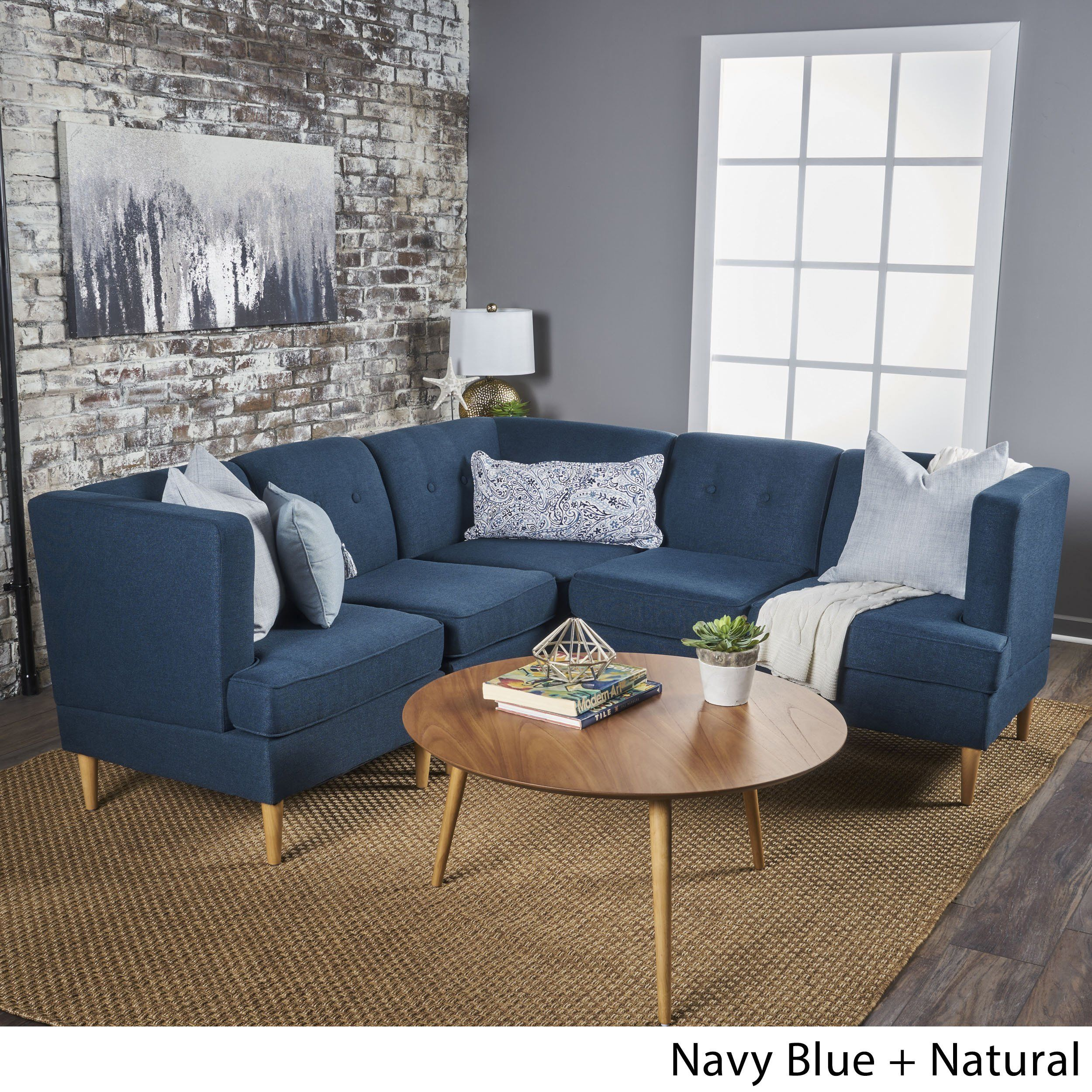 Surprising Carson Carrington Larvik Mid Century Modern 5 Piece Fabric Unemploymentrelief Wooden Chair Designs For Living Room Unemploymentrelieforg