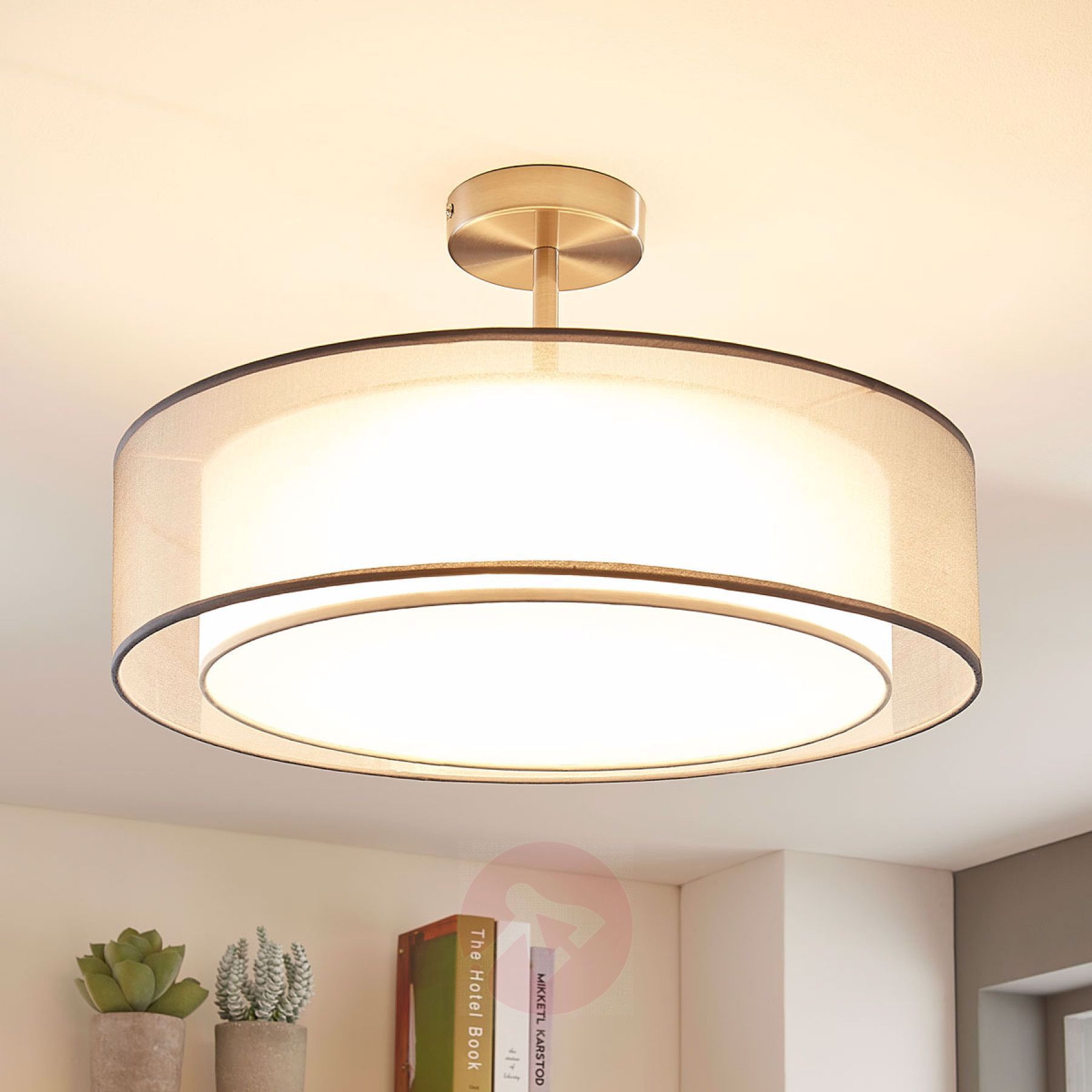 LED Deckenlampe Pikka, 3 stufig dimmbar, grau 9621773 01 ...