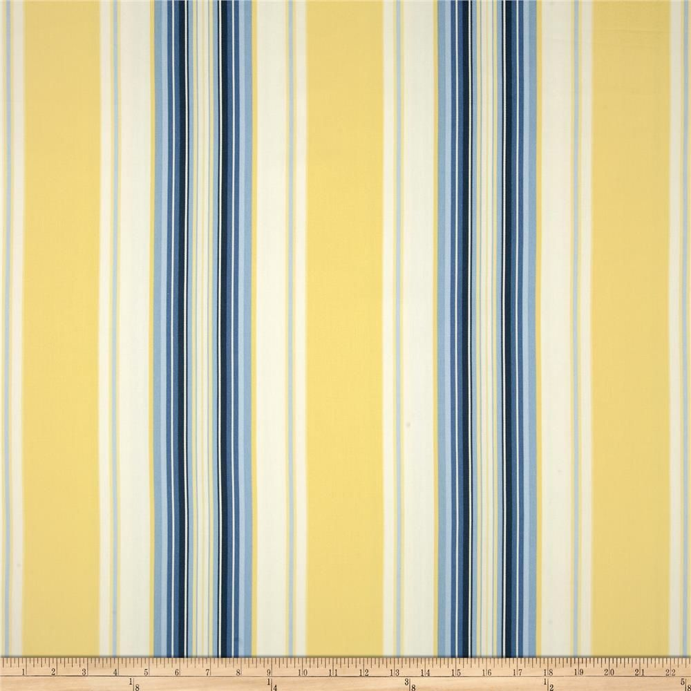 Blue And Yellow Striped Shower Curtain Curtain