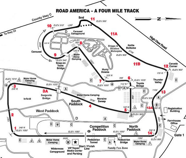 Road America Track Map by sammyjava, via Flickr | Race Tracks ...