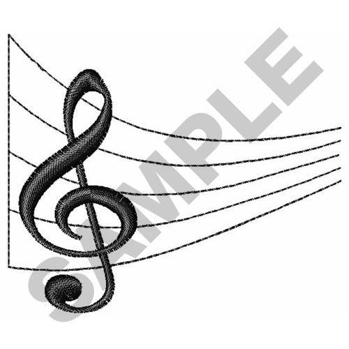 MUSIC STAFF embroidery design