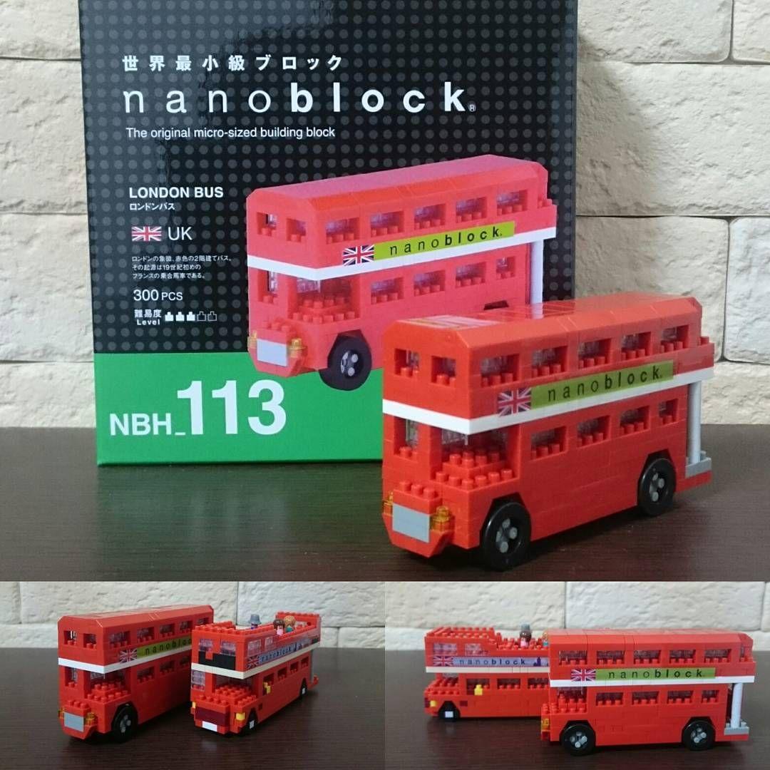 日本でも売っている ロンドンバス 特殊パーツが多いですが 嫁が言う ナノブロックにタイヤはいらない どうでしょう これはこれで 私は好きですけど Nanoblock ナノブロック ロンドンバス London Bus Building Blocks Toy Car