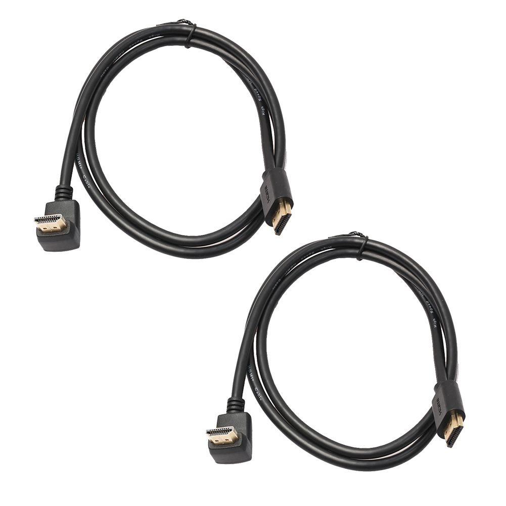 2pcs1m 14 Version Hdmi Cable With 270 Degree Angle Male To Connector Full Hd 1080p Extension Supports For Ps4 Tv Dvd Affiliate