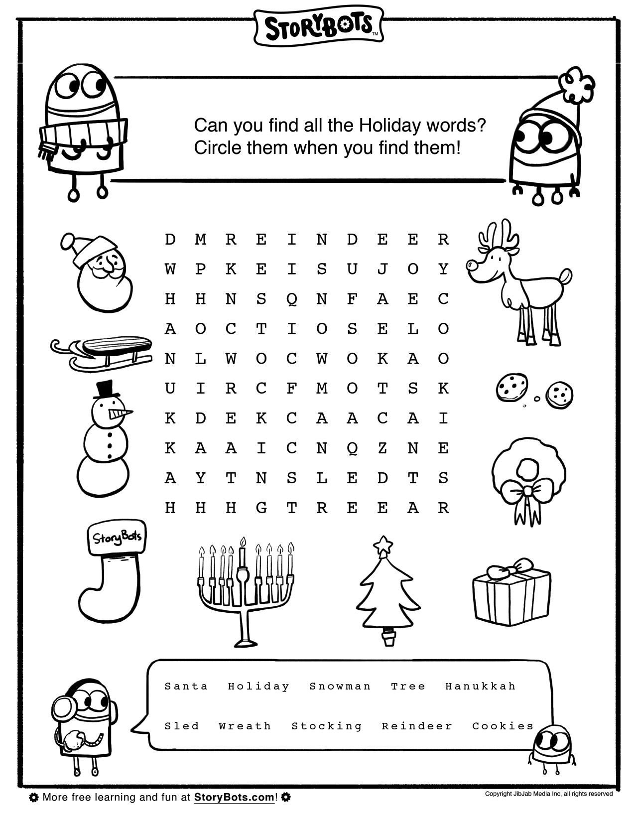 Can You And Your Child Find All The Holiday Words Hidden