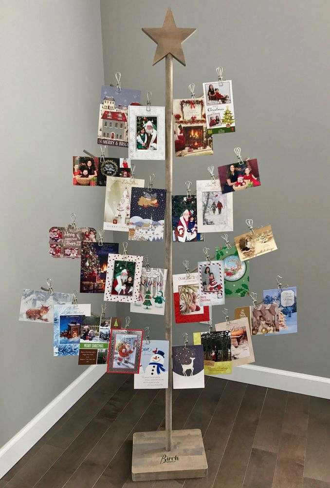 Christmas Card Holder Stand - Birch Branch Card & Photo Tree | How ...