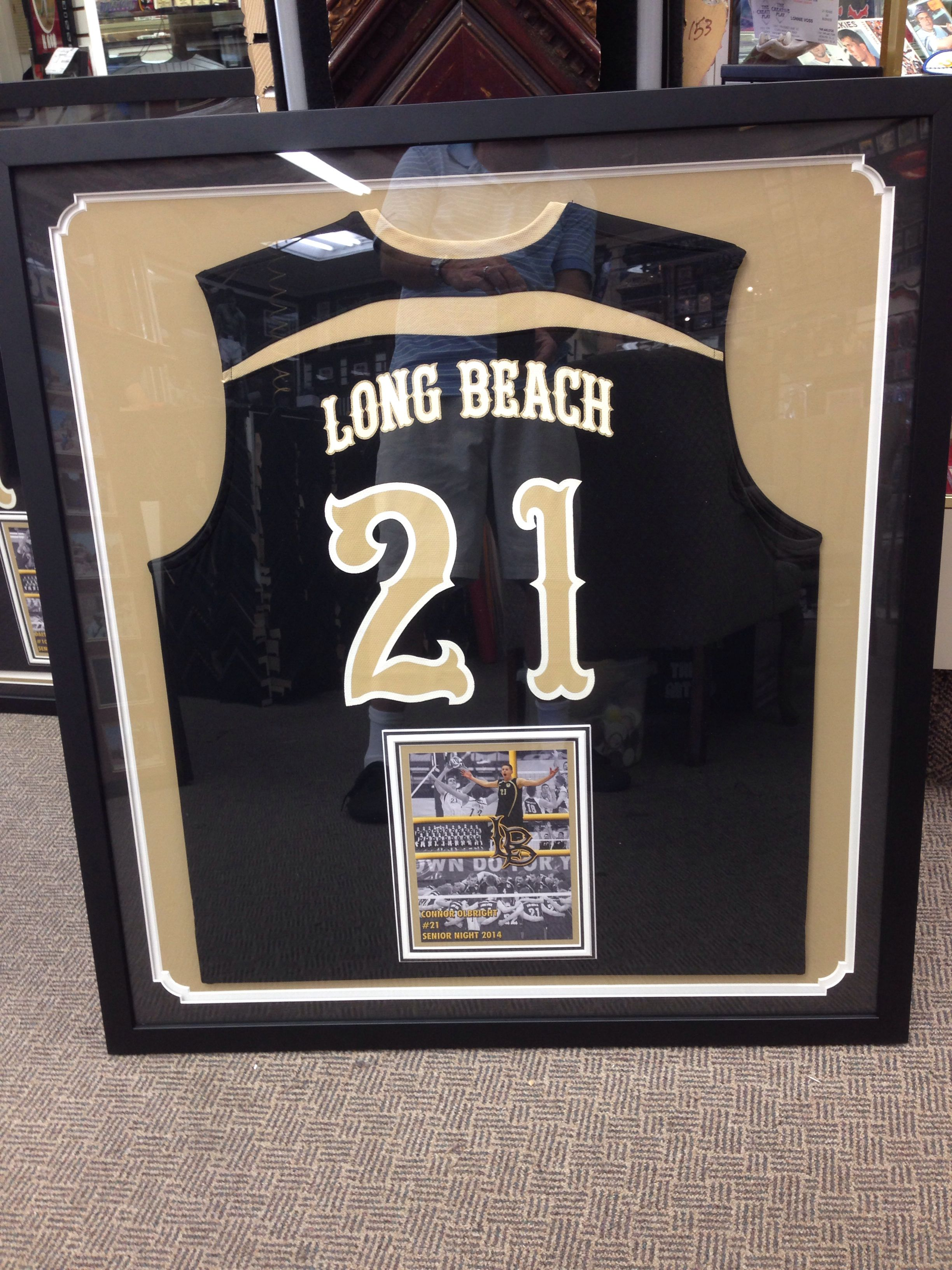 Long Beach State Volleyball Jersey With Images Framed Jersey