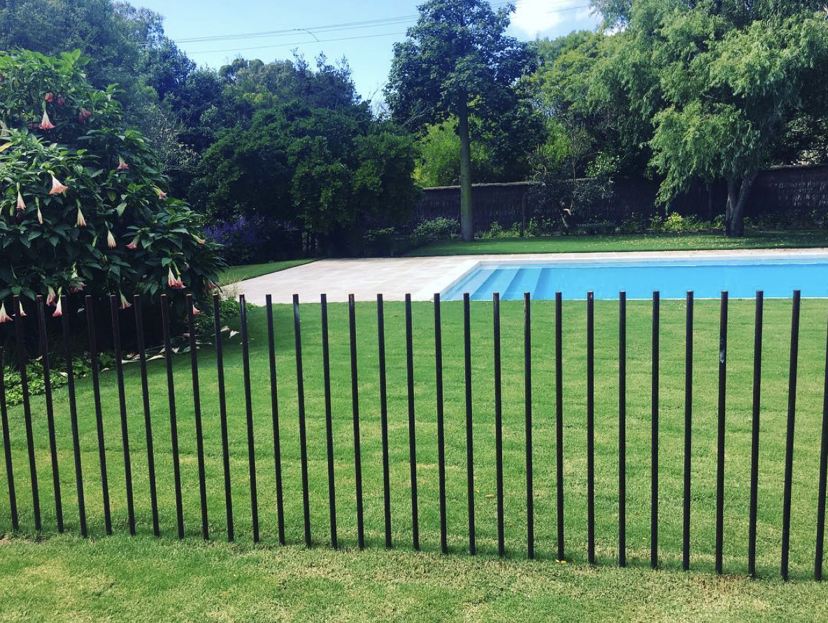 steel rod pool fence by pml landscapes pool fencing on modern fence ideas highlighting your house with most shared privacy fence designs id=86557
