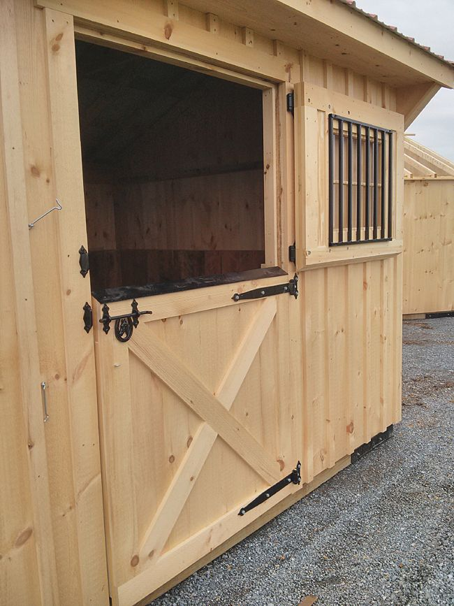 Wooden dutch door construction sugar plum sage for Building a horse stable
