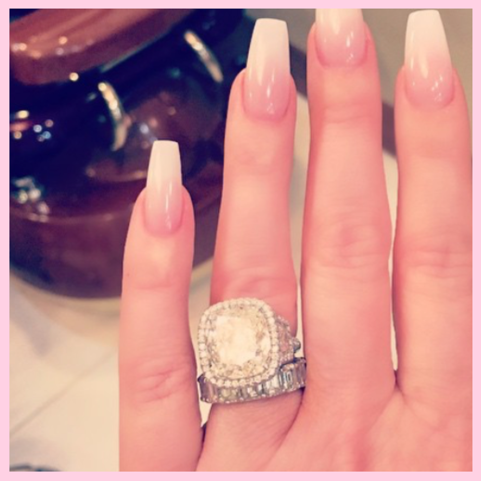 Julers Row: Celebrity Engagement Ring Recap, Kim Zolciak Biermann. Baby  Boomer Nails