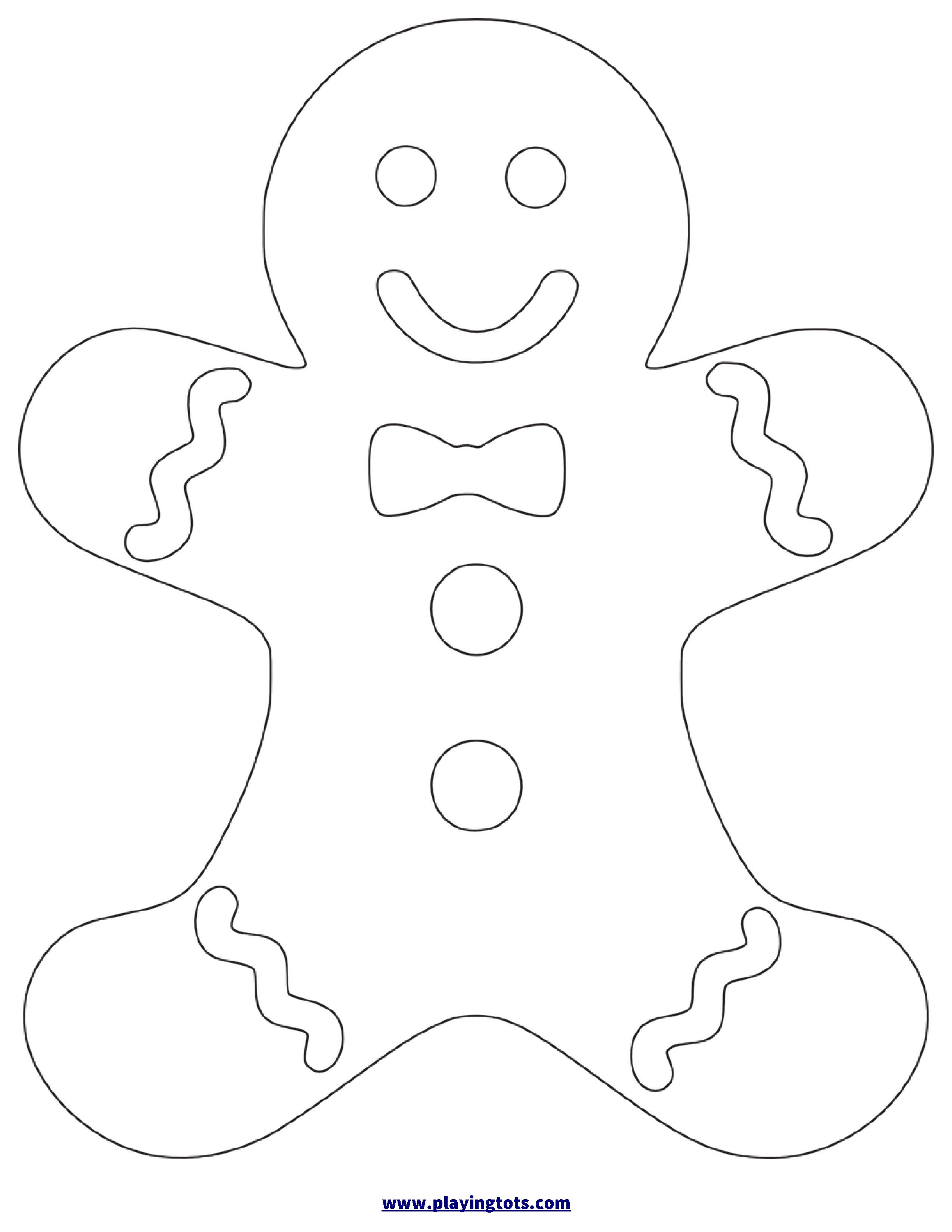 Free Printable Gingerbread Man Worksheet