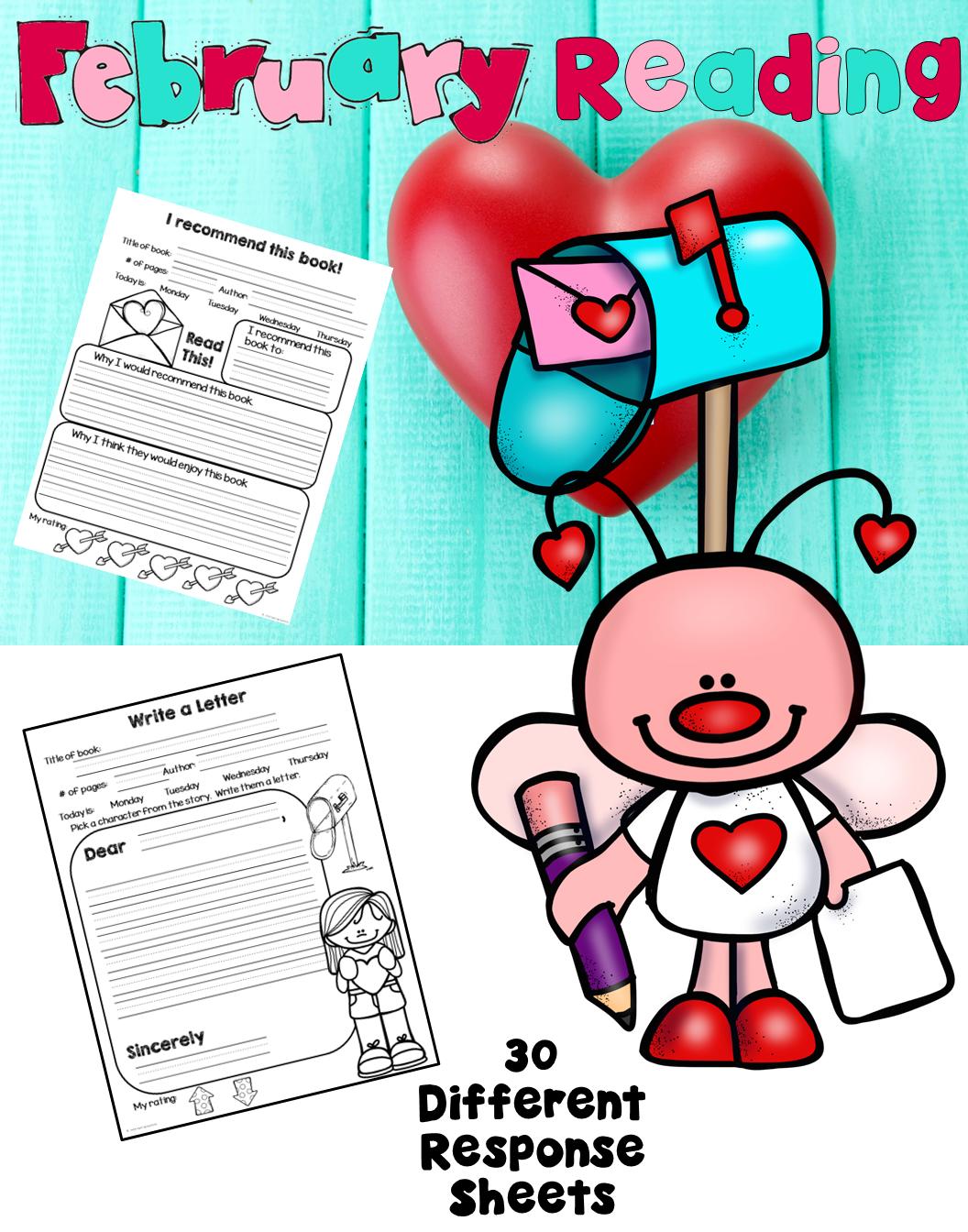 Reading Response Worksheets For February