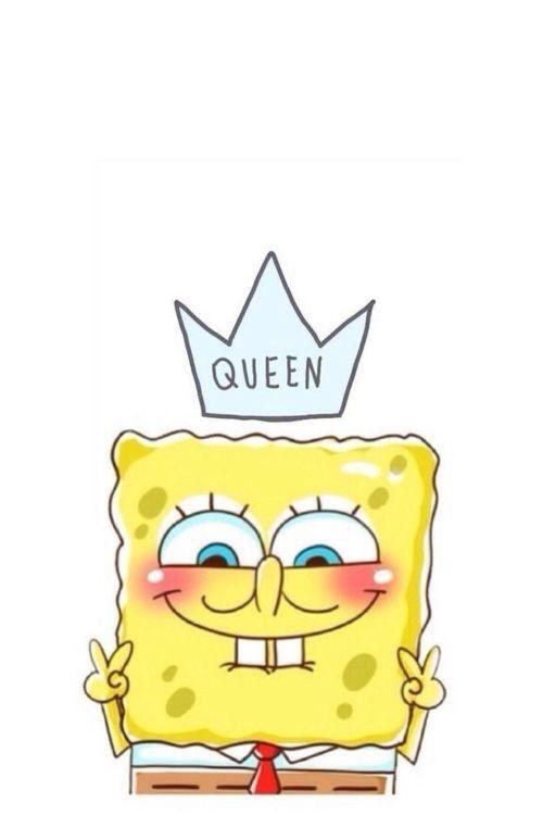 Funny Queen Smiles Sponge Bob Timeline Cover Wallpaper Cute Wallpapers