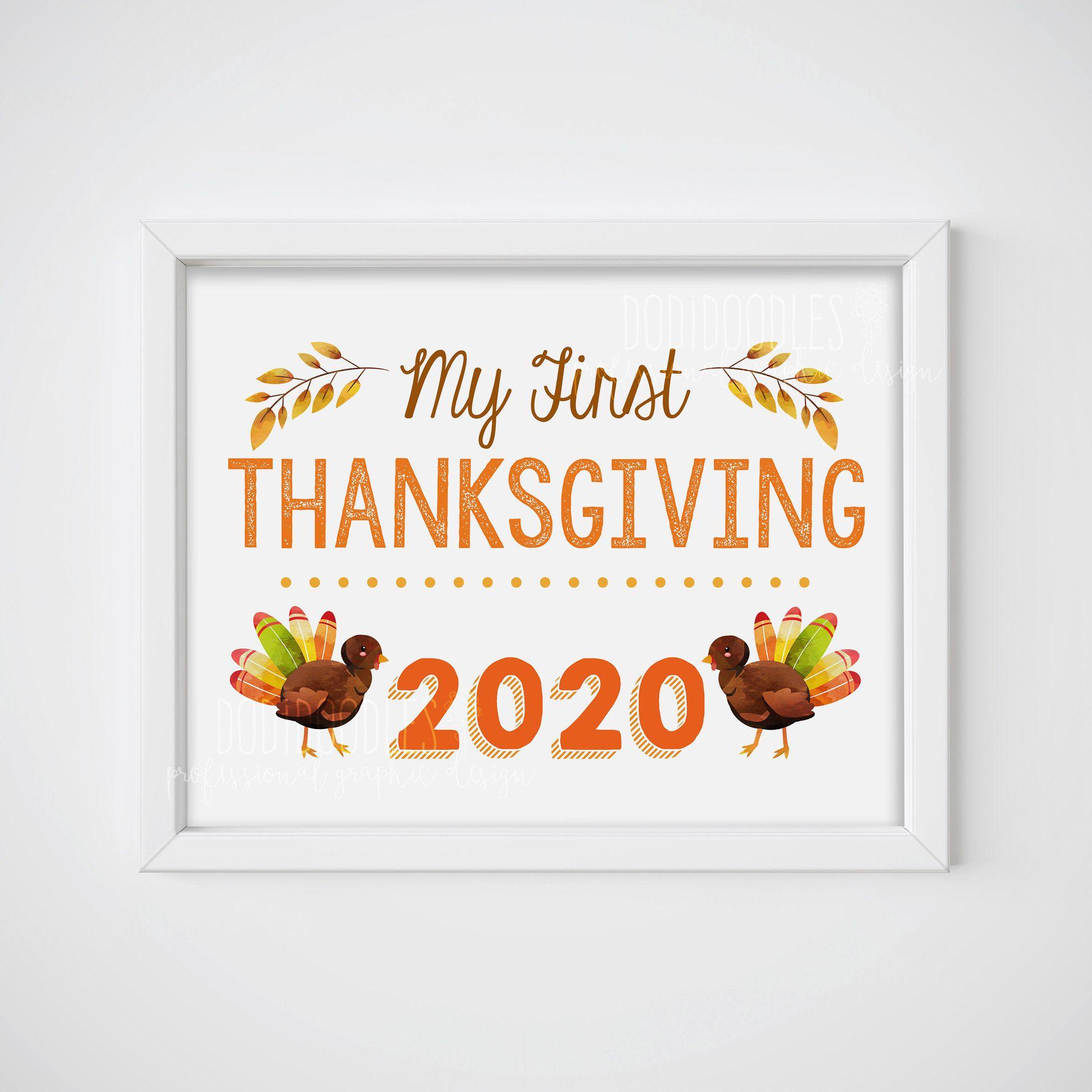 My First Thanksgiving First Thanksgiving Thanksgiving 2020 Etsy In 2020 Thanksgiving Photo Props Thanksgiving Photos First Thanksgiving