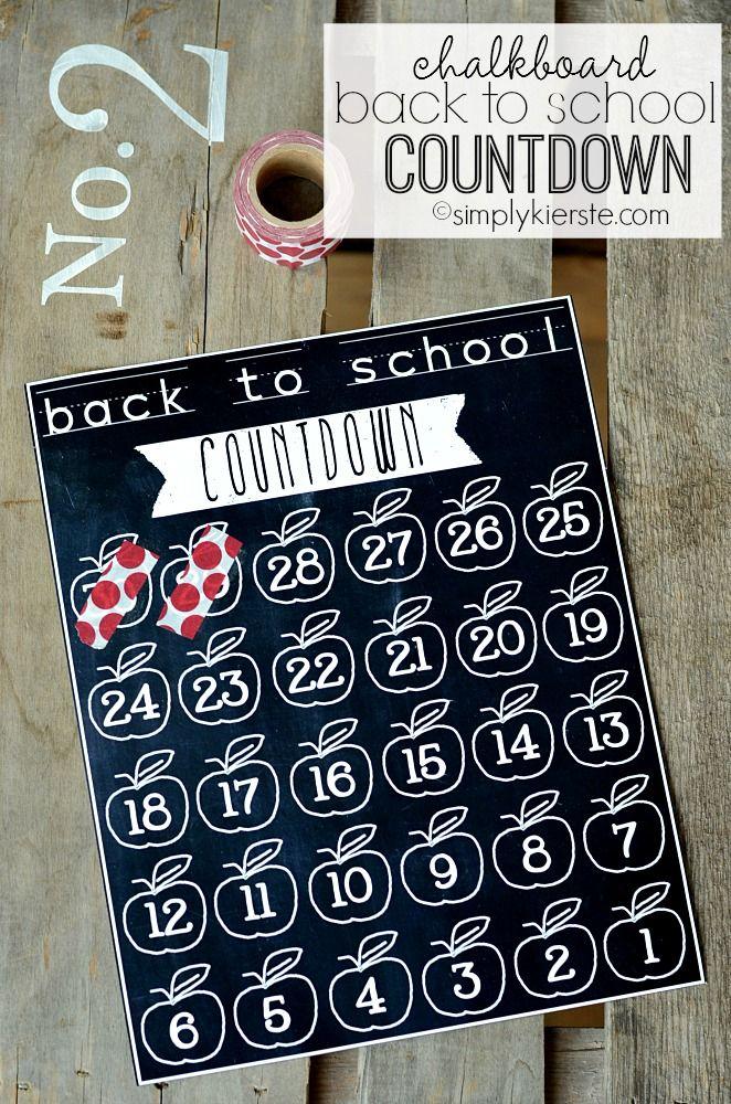 Chalkboard Back to School Countdown School countdown