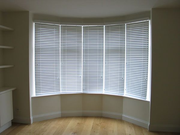 White Woodslats In Bay Window