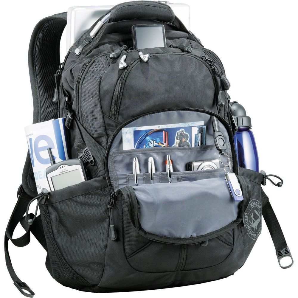 "Wenger 17"" Horizons Black Laptop Backpack, 40% off Retail Price Swissgear Bag #Wenger #Backpack"