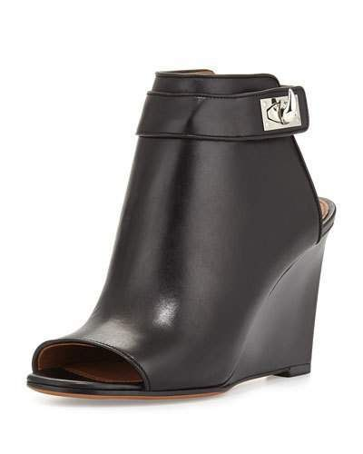SALE Givenchy Shark-Lock Wedge Bootie