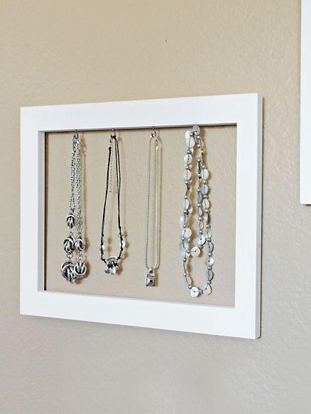Frame Jewelry Organizers Necklace Organizer Earring Storage Solutions
