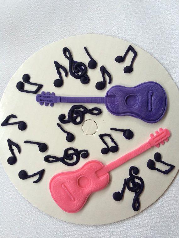 Gitarre Kuchen Topper 14pcs Musik Geburtstag Dekorationen Essbare
