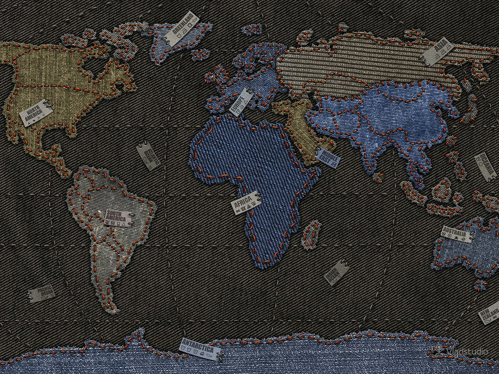 A world map in fabric by vlad gerasimov maps cartography a world map in fabric by vlad gerasimov gumiabroncs Images