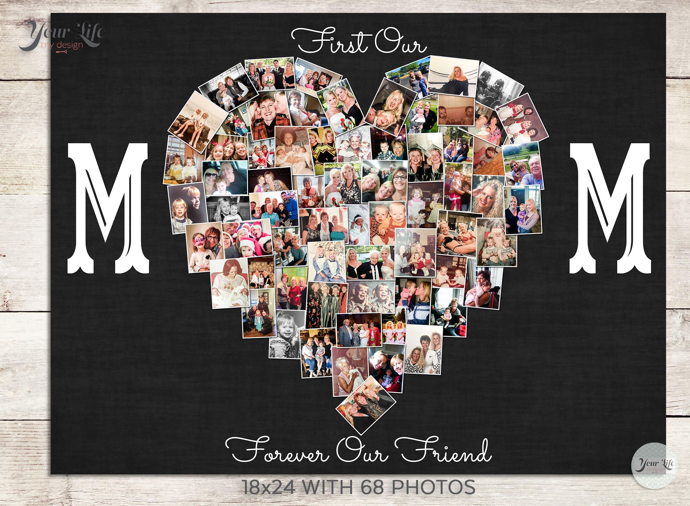 First my mom forever my best friend gift mom photo gift