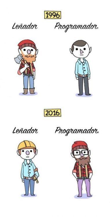 1996 Vs 2016 Lenador Vs Programador Humor Memes Funny Divertido Memes Divertidos Meme Gracioso Imagenes Graciosas
