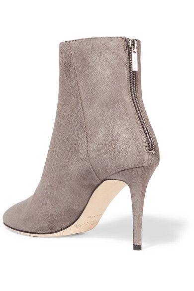 e5ea26ef517 Jimmy Choo - Duke Suede Ankle Boots - Light gray