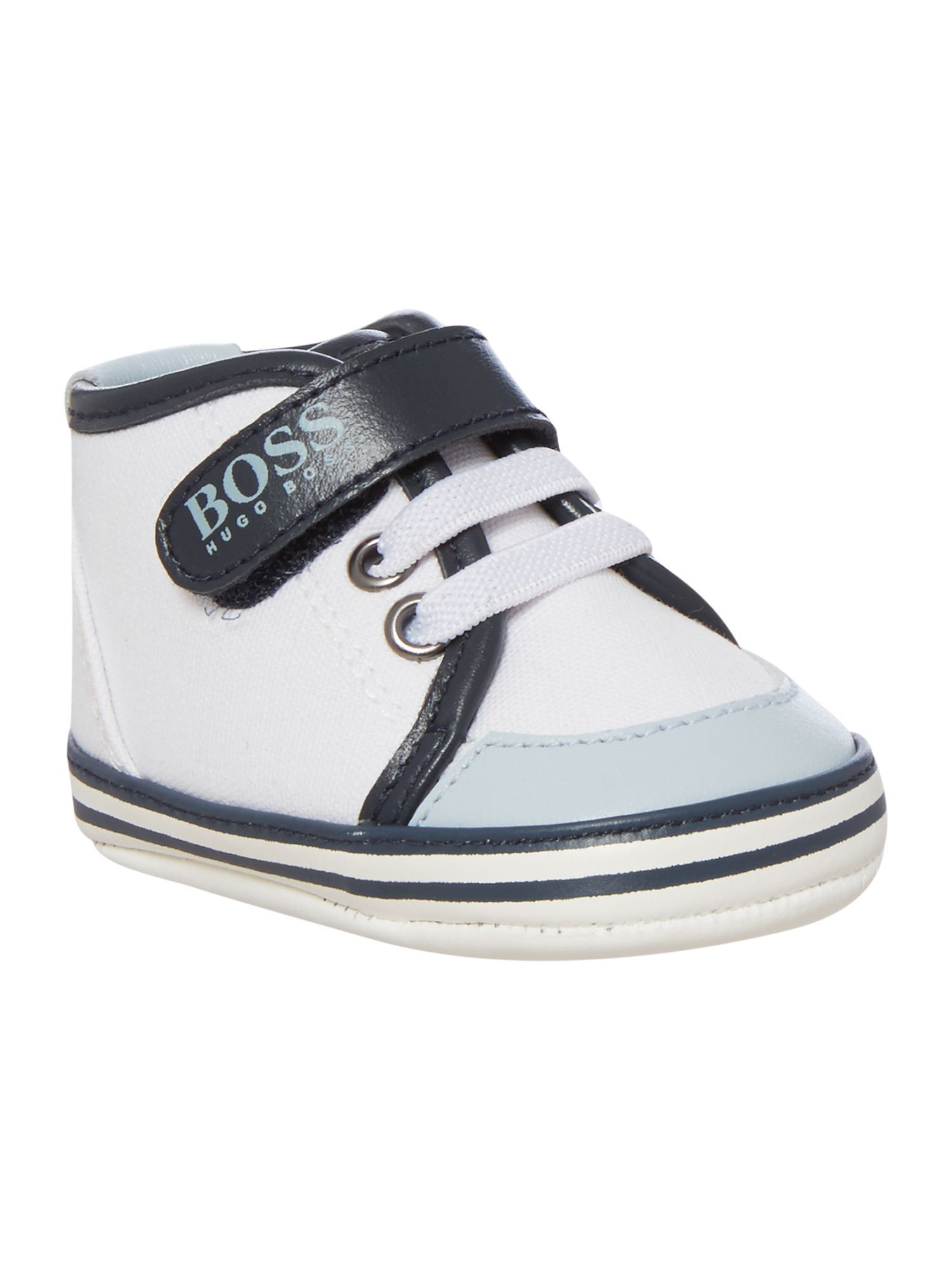 Hugo Boss Baby Boys Cotton Canvas Trainers 4b63758d433a