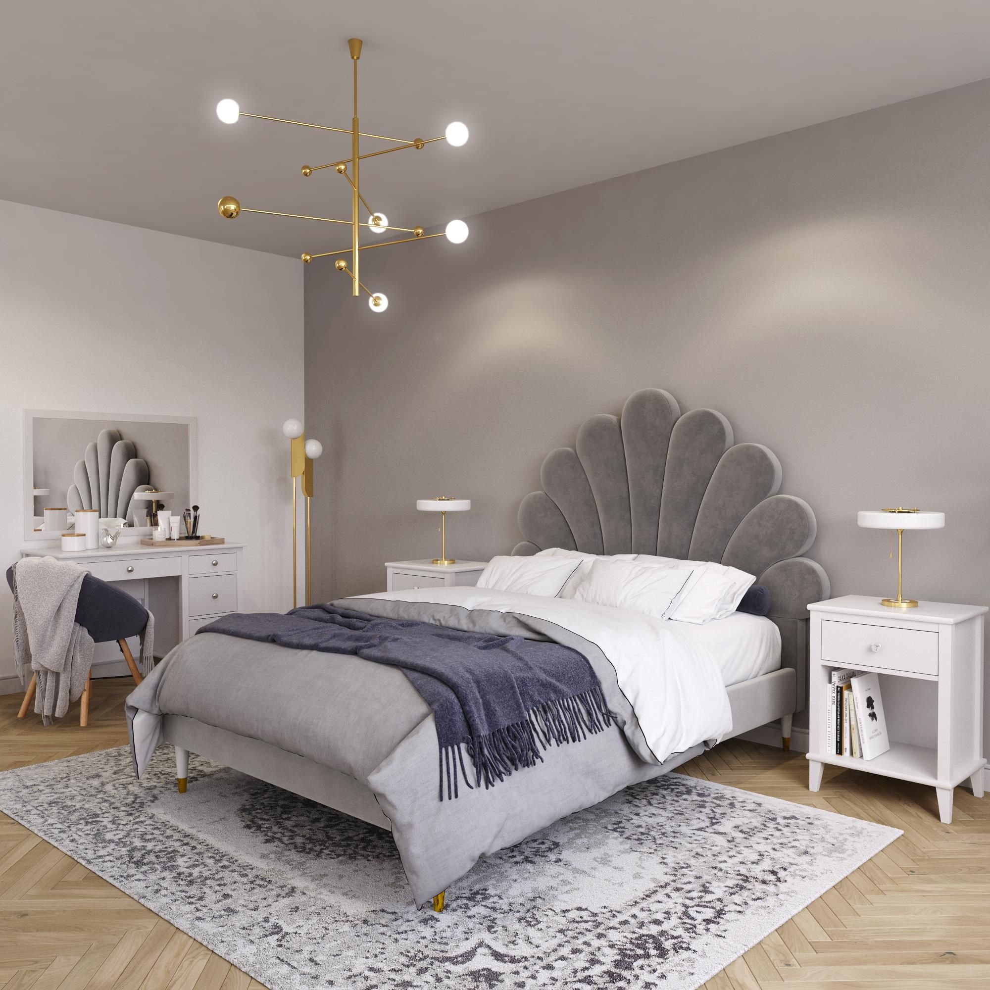 Home Full size upholstered bed, Home, Furniture