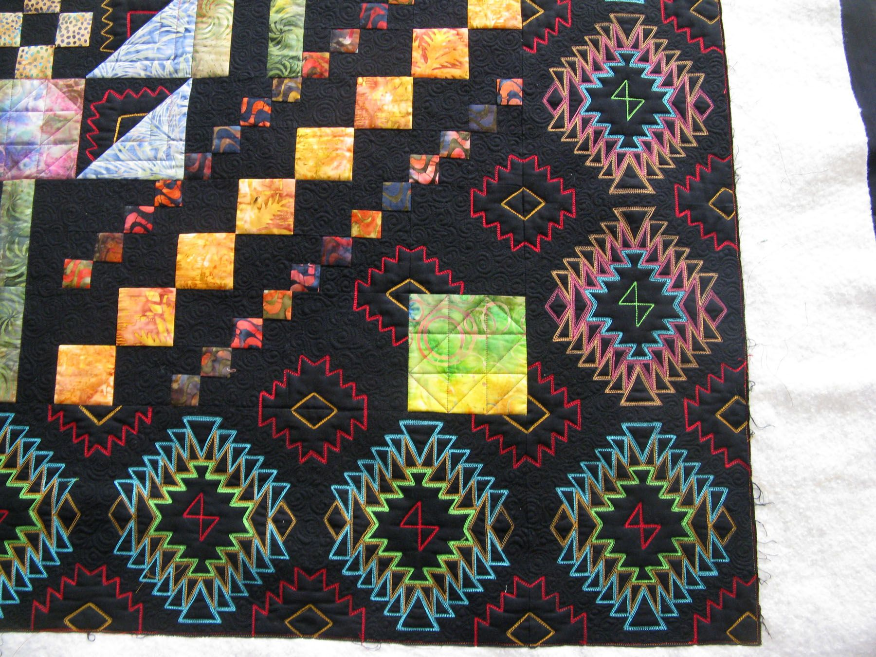quilted navaho inspired design borders were all black all the