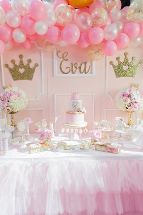 Magical Princess Birthday Party On Kara Ideas Karaspartyideas Also How Lovely Is This Table With Gold