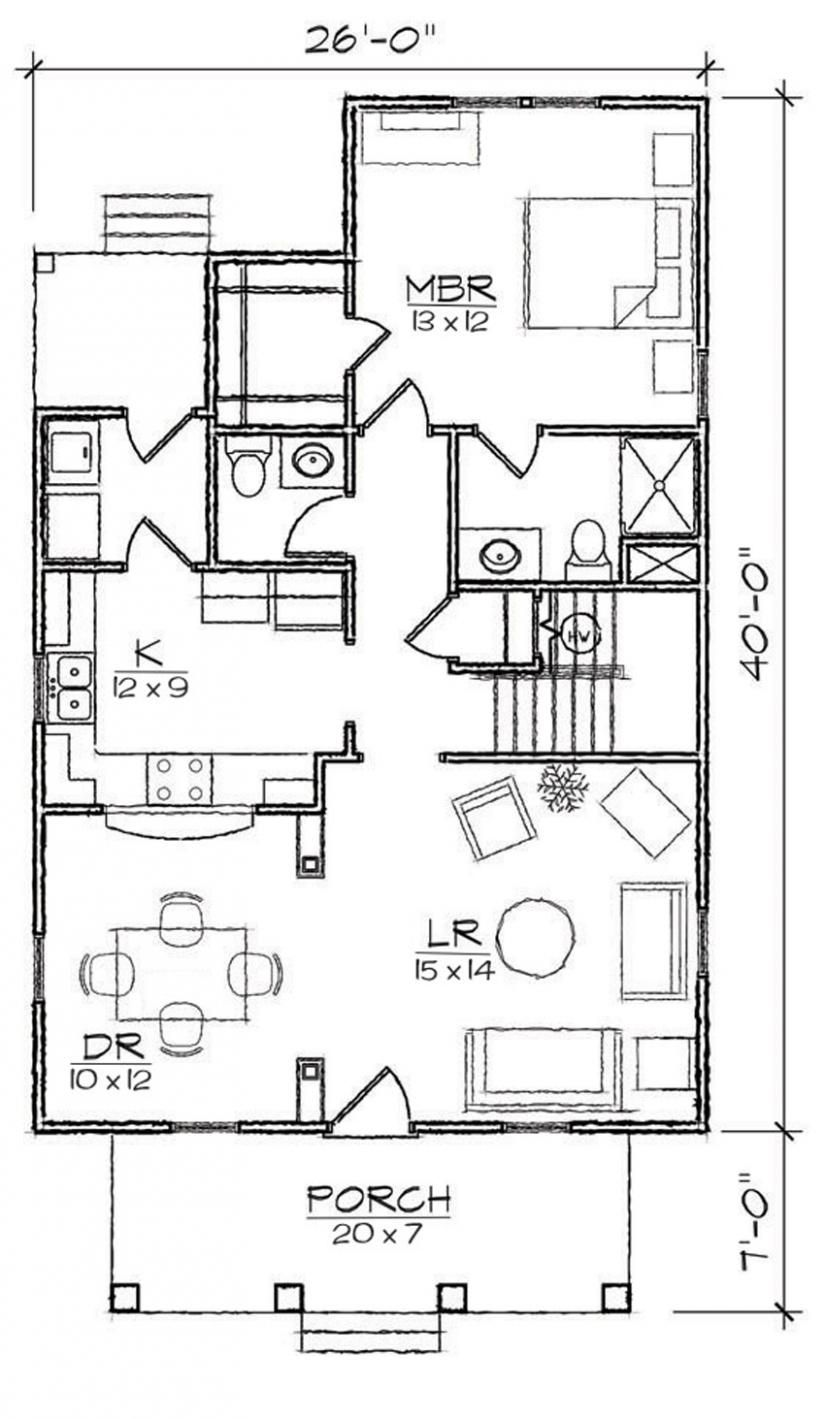 653975 4 Bedroom 2.5 Bath Bungalow Craftsman house plan