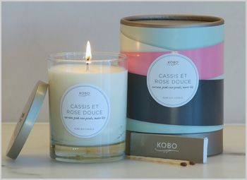 Kobo Candles! Set the mood with Cassis et Rose Douce