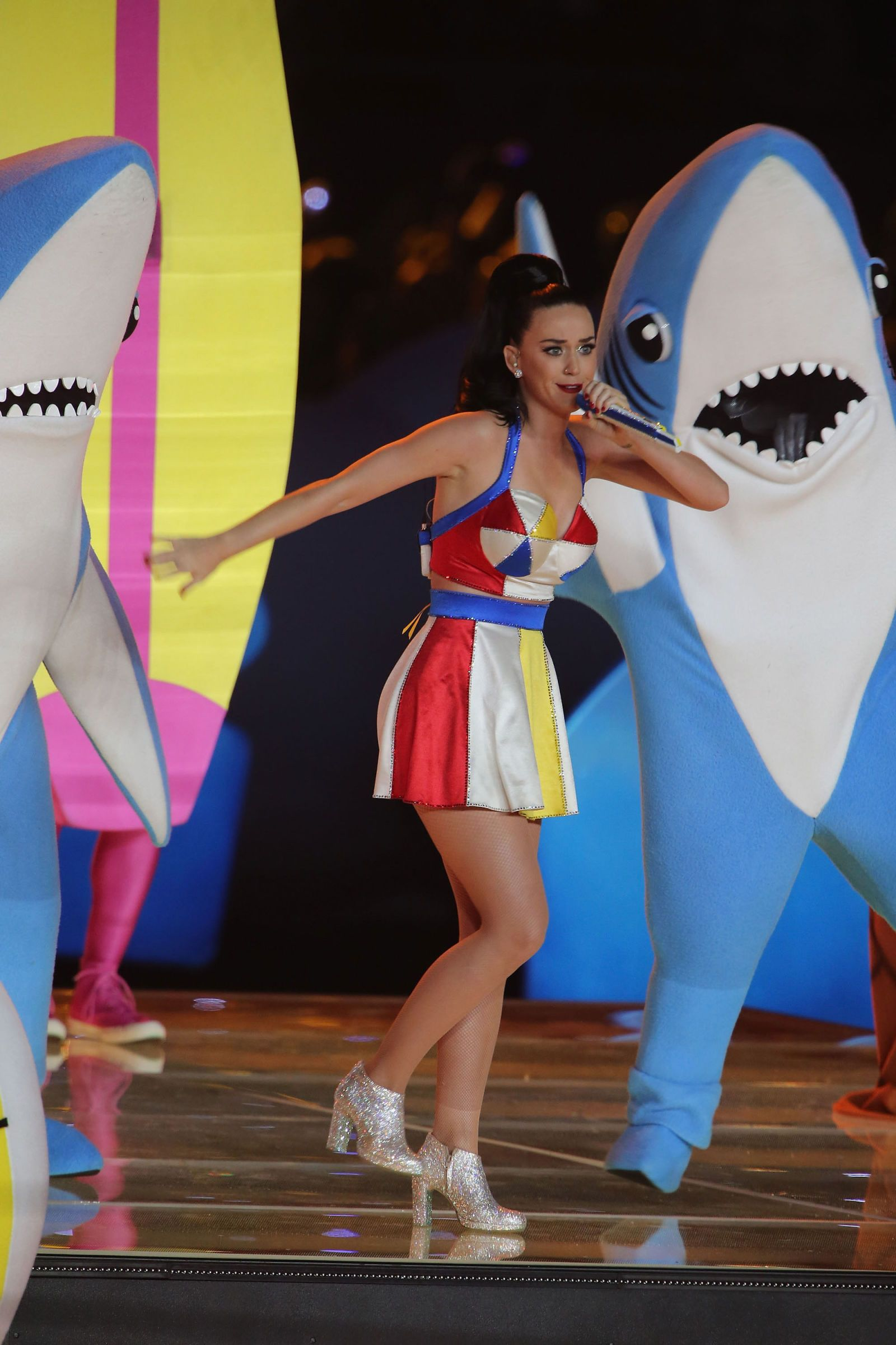 You Need to See What Katy Perry s Dancing Shark Looks Like Under His