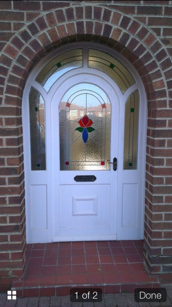 Inspirational STAINED GLASS FRONT DOOR ART DECO 1930s PLETE PERIOD EDWARDIAN ARCH FRAME For Your Home - Simple arched entry doors Modern