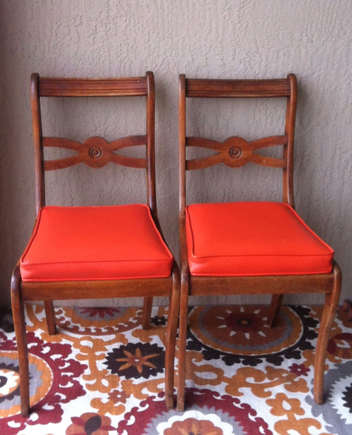 Vintage Duncan Phyfe Style Mahogany Chairs By