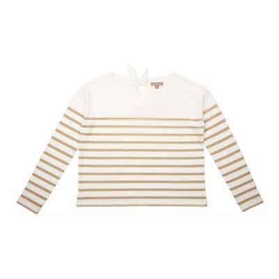 Emile et ida gold stripe sweat shirt babydk