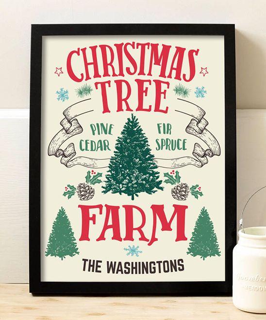 Christmas Tree Farm Personalized Print