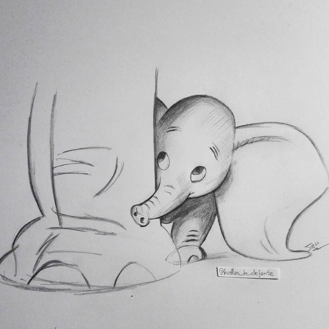 Dumbo #dumbo #disney #elephants #elefante #dibujo #lapiz #drawing