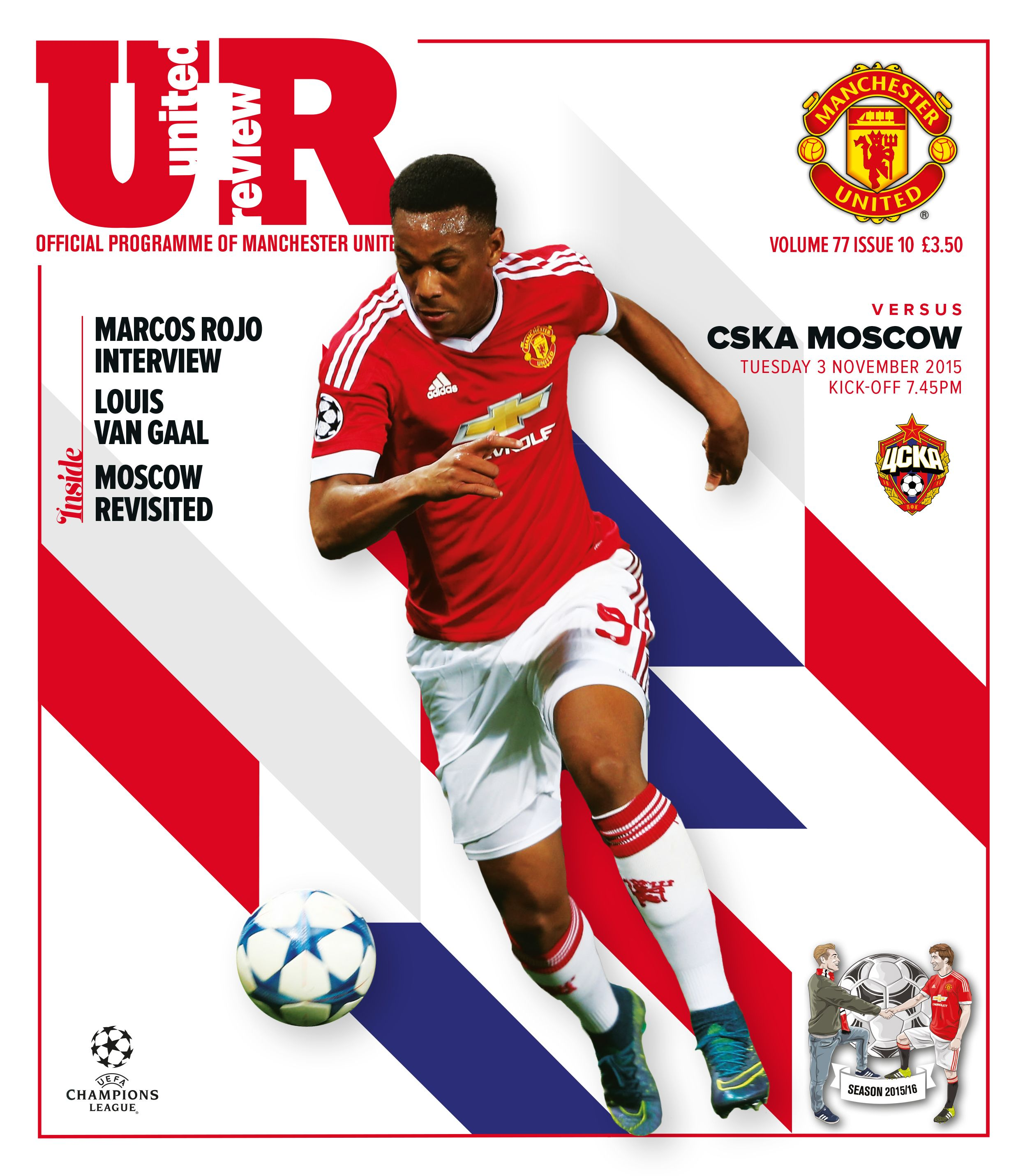 The official Manchester United matchday programme, United