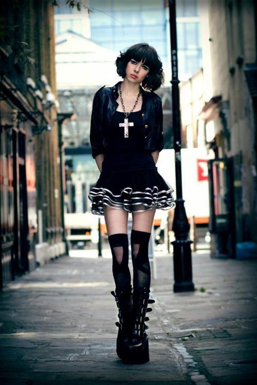 gothic fashion goth gothic style fashion girl women https www facebook com alternativestylepolska
