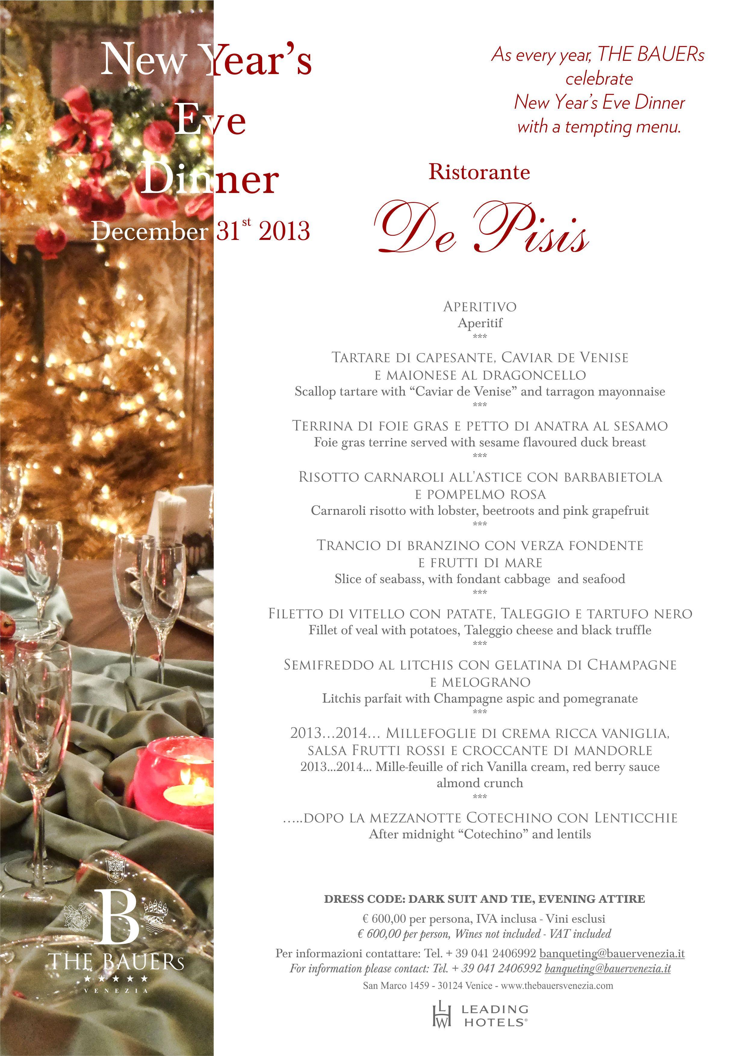 New Year\'s eve menu | New Year\'s Eve menues | Pinterest | Menu ...